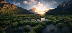 """Green Land - The first Greenland Tour is full but there is a second one going from <a href="""" http://maxrivephotography.photoshelter.com/#!/p/greenland-2016""""> September 2-11! </a> A lot of uploads lately from my side but I will be away from the internet for a long time in the beginning of next year till I don't know when.  This pano shows a scene which is pretty common in this part of Greenland. This location is also pretty well suited for some Northern Light action with all the reflecting…"""