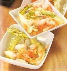 Tempura di calamari, zucchini, carote e asparagiTempura di calamari