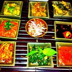 9 Sambals at Restaurant #Chandi, Seminyak, Bali