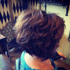 short hair, messy curls