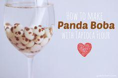 Panda Tapioca Milk Tea With Panda Boba