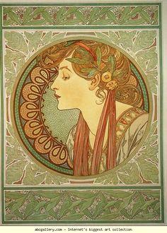 Alphonse Mucha. Laurel. Olga's Gallery.