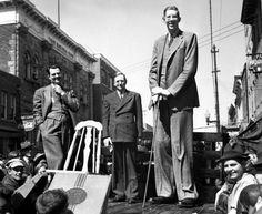Роберт Уодлоу(1918-40г)-самый высокий человек в мире   Когда Уодлоу исполнился 21 год, его рост достиг 263 см, а весил он уже 223 кг _Robert Wadlow (1918-40), the tallest man in the world When the Wadlow was 21 years old, his height reached 263 cm, and he weighed 223 kg