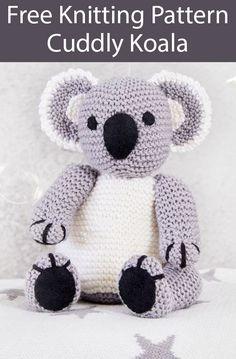 Teddy Bear Knitting Patterns- In the Loop Knitting # knitting patterns toys Knit a cuddly koala with this free knitting pattern Teddy Bear Knitting Pattern, Knitted Doll Patterns, Animal Knitting Patterns, Knitted Teddy Bear, Stuffed Animal Patterns, Knitting Bear, Koala Teddy Bear, Free Aran Knitting Patterns, Felt Patterns Free