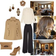 """A brown autumn set"" by besyata on Polyvore"