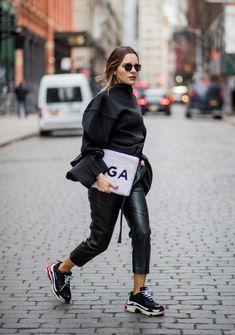 Ellespain balenciaga trainers outfit, big fashion, toddler fashion, style f Black Women Fashion, Big Fashion, Womens Fashion, Toddler Fashion, Style Fashion, Fashion 2018, Cheap Fashion, Fashion Styles, Fashion Trends