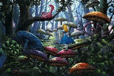 Alice in Wonderland - A Smile You Can Trust - Cheshire Cat - Rodel Gonzalez - World-Wide-Art.com