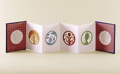 """Flower Vision"" miniature book by artist Elsa Mora Concertina Book, Accordion Book, Up Book, Book Art, Paper Design, Book Design, Book Crafts, Paper Crafts, Art Zine"