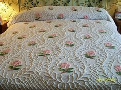 vintage bed spreads for sale | ... VINTAGE CABIN CRAFT NEEDLETUFF FLOWERS CHENILLE BEDSPREAD For Sale
