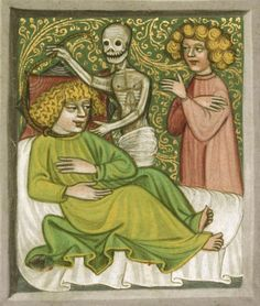 Prague, Musée nat., Bibl., III. B. 10, detail of f. 172v. Speculum humanae salvationis, c. 1420.