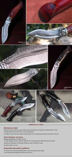 Turen Sky Dog Damascus Hunting Knife with 67 Layer Japanese Damascus Steel Blade, Ebony or Camwood Handle and Beautiful Hand Made Leather Sheath Knives And Tools, Knives And Swords, Homemade Forge, Dagger Knife, Blacksmithing, Beautiful Hands, Weapons, Blade, Guns