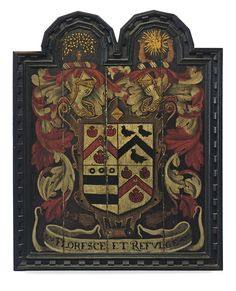 A Charles II funeral hatchment with the coat-of-arms of the Tancred Lawson family of Yorkshire, England