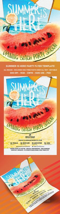 Summer Flyer Flyer template - summer flyer template