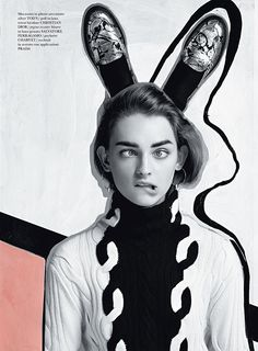 Daga Ziober for Flair Magazine #graphic #design #art_direction