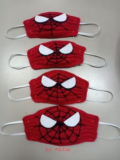 Crochet Mask, Crochet Faces, Knit Crochet, Crochet Slipper Pattern, Crochet Slippers, Knitting Patterns, Sewing Patterns, Crochet Patterns, Fabric Crafts