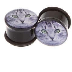 Morbid Metals Cat Plugs 2 Pack | Hot Topic ($14) ❤ liked on Polyvore featuring jewelry, earrings, plugs, piercings, accessories, cat earrings, metal earrings, earrings jewelry, cat jewelry and metal jewelry