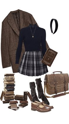 Mode Outfits, Fall Outfits, Fashion Outfits, Womens Fashion, 1940s Fashion Women, Looks Style, Looks Cool, Mode Grunge Hipster, Aesthetic Fashion