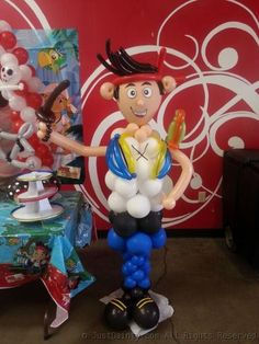 Jake The Pirate Balloon Sculpture by Just Dainty www.justdainty.com