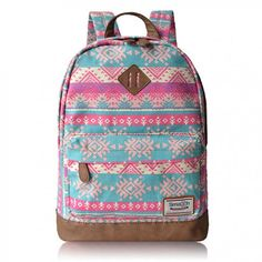 Cheap Fashion Pink Snowflake Geometry Totem Rucksack Travel Backpack Schoolbag For Big Sale! Lace Backpack, Retro Backpack, Floral Backpack, Backpack For Teens, Canvas Backpack, Travel Backpack, Fashion Backpack, Cute Backpacks, Girl Backpacks