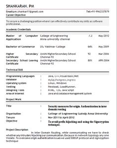 Best Resume Examples Adorable Sample Of A Beautiful Resume Format Of Mba Fresher  Resume Formats