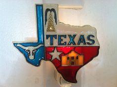 Texas~ Long Horn Alamo Night Light with  4 by HenerysNightLights, etsy
