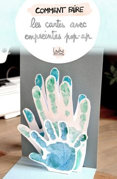 DIY Tutorial: make pop-up cards for grandparents or for announcements. An activity to do with children! Diy Birthday Gifts For Mom, Diy For Kids, Crafts For Kids, October Calendar, Wedding Shower Favors, Practical Gifts, Pop Up Cards, Diy Arts And Crafts, Hello Everyone