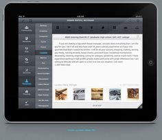 Craigslist Premium iPad UI design on the Behance Network