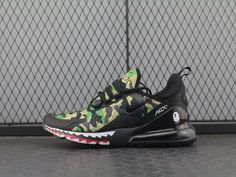 finest selection f7960 916d1 NIKE AIR MAX 270 FLYKNIT BLACK GREEN AH6799-003