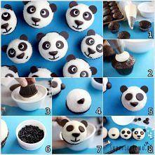Zobacz zdjęcie Jak zrobić babeczki panda? Te pyszne babeczki o wyglądzie misiów panda są pra...