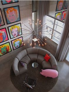 pop art living room