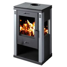 POD Eighteen - 75 kW Stove - The Pod Eighteen has a steel body giving a maximum of 10.5kw of heat with a nominal output of 7.5kw. A contemporary design with glass on three sides of the fire giving an excellent view of the flames, the stove is beautifully styled.