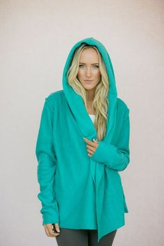 Oversized Fleece Yoga Wrap Hoodie Jacket in Plaid | Wraps and Yoga