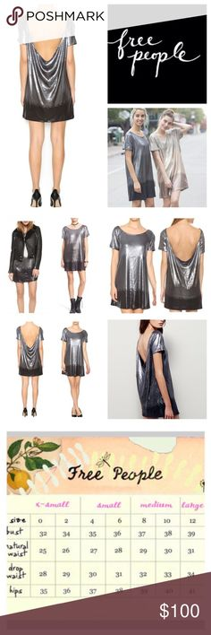 """Free People Drenched In Sequins Mini Dress.  NWT. Free People Drenched In Sequins Dress, 62% polyester, 35% rayon, 3% spandex, washable, 23"""" armpit to armpit (46"""" all around), 35"""" length, short sleeve shift mini dress, high neckline with a low scoop neck back draped back with ombré sequins, dress is intended to be loose fitted, can be worn with a sexy bralette, measurements are approx.  NO TRADES Free People Dresses Mini"""