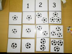 Thema voetbal : Matrix: aantal voetballen en soort voetbal *liestr* Teaching Math, School, Sports, Projects, Kids, World Cup, Father's Day, World Championship, Log Projects