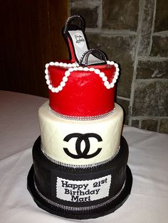 Couture Chanel Cake with Loubiton shoe by Simply Sweet Creations