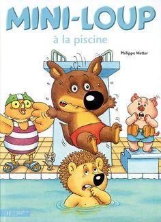 Couvertures, images et illustrations de Mini-Loup à la piscine de Philippe Matter