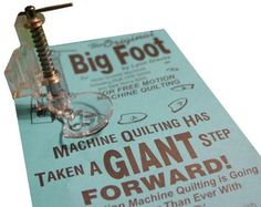 High Shank Big Foot Free Motion Quilting Darning Spring by iSewing