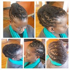 #womenwithlocs #locstyles #shortlocs #locupdo