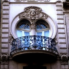 Art Nouveau Window in Valencia, Spain. My blog:…