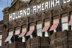 Golden letters, Hotel New York, Rotterdam Today a hotel. Once the starting point for many immigrants from Holland to America.