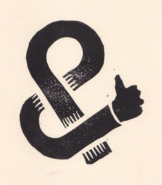 Ampers-Hand - block print by J-Ray