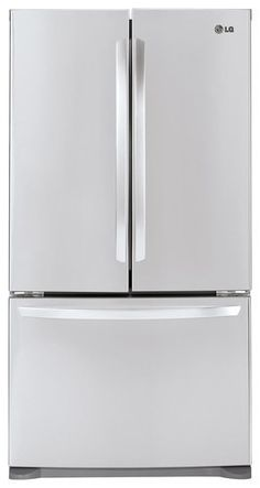 LG - 20.7 Cu. Ft. Counter-Depth French Door Refrigerator - Stainless Steel - Larger Front