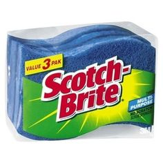 3M Scotch-Brite Non Scratch scrub sponges pack of 6 . $5.00. 3M Scotch-Brite No Scratch Scrub Sponge. lot of 6 ( 2 packs of 3) Multipurpose Scrub Sponge cleans tough messes fast. Shaped to fit comfortably in the hand. Product Details Non-scratch scrub sponge cleans without scratching. Clean cookware, countertops or any other surface with a finish you don't want to scratch. No worries, no scratches, no excuses! Wavy shape fits comfortably in your hand.
