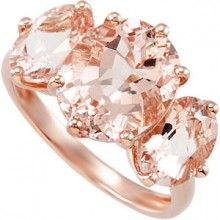 Three Stone Morganite Ring in Rose Gold- i know rose gold isn't going to last, but isn't it beautiful?