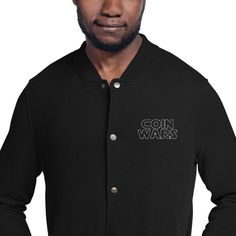 Give your streetwear look an update with this embroidered Champion bomber jacket. The detailed embroidery adds a unique twist to the classic bomber jacket, resulting in a truly distinct fashion item thatll become a favorite in your wardrobe. Hapkido, Taekwondo, Judo, Karate, Mma, Streetwear, We Wear, How To Wear, Embroidered Bomber Jacket
