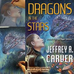 "The amazing book ""Dragons in the Stars"" , with my new SciFi cover, is now available. I am very happy to work with this writer who was a Nebula Award finalist and know also for ""Battlestar Galactica"" , a novelization of the critically acclaimed TV miniserie #sciencefiction #SciFi#books #bookcover #battlestargalactica #drawing #dragon #book #coverup #instabook #illustrator #bookstagram #illustrationoftheday #draw #love#artbook #illustration"