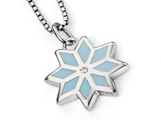 D for Diamond Silver Pendant - First Snow