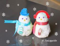 Acchiappaidee: Pupazzi di neve pon pon