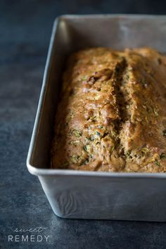 You won't taste the whole wheat in this Whole Wheat Zucchini Bread recipe from @sweet-remedy.com