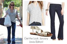 Get January Jones' chic street style to add to your closet! www.HighFashionMagazine.com